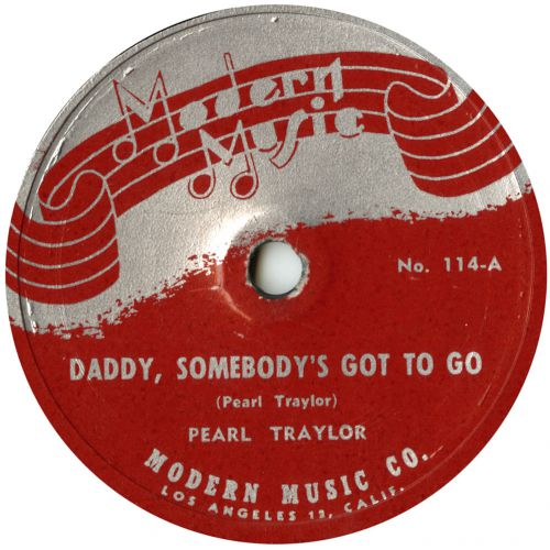 Pearl Traylor 'Daddy, Somebody's Got To Go' courtesy of Ian Saddler