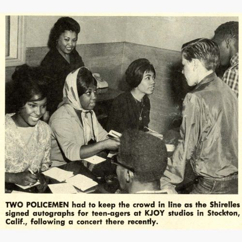 The Shirelles press clipping