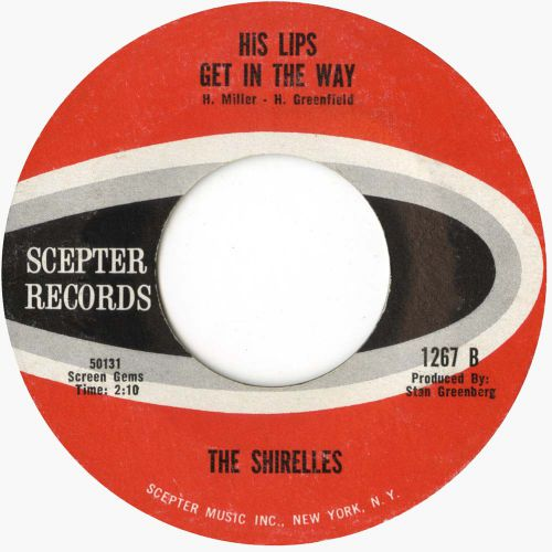 The Shirelles 'His Lips Get In The Way' courtesy of Mick Patrick