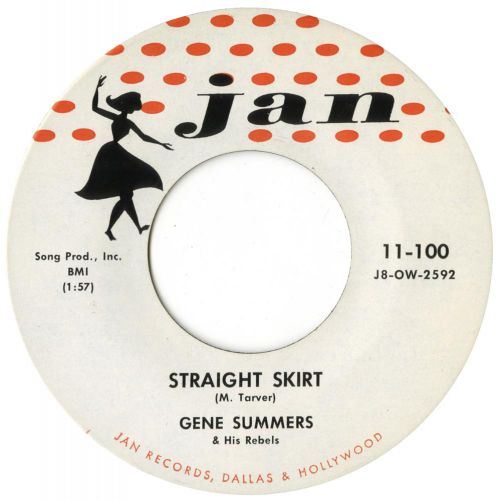 Gene Summers & His Rebels 'Straight Skirt' courtesy of Brian Nevill