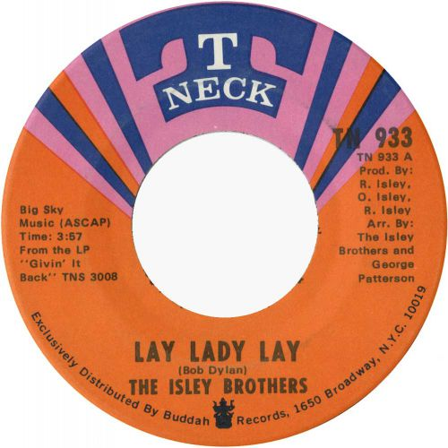 The Isley Brothers 'Lay Lady Lay' courtesy of Tony Rounce
