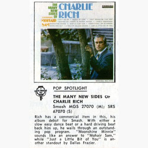Charlie Rich press clipping