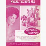 Where The Boys Are song sheet courtesy of David Bell
