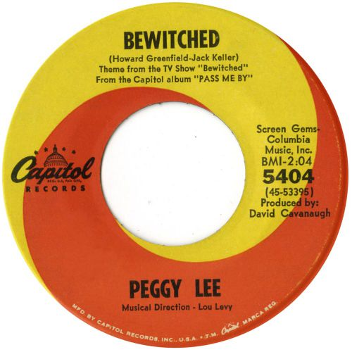 Peggy Lee 'Bewitched' courtesy of Mick Patrick