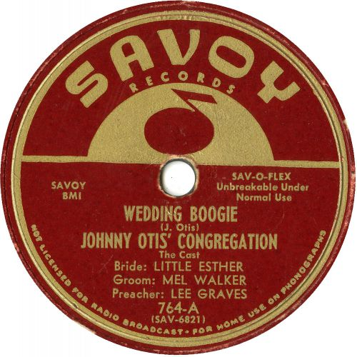 Johnny Otis Congregation 'Wedding Boogie' courtesy of Tony Rounce