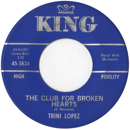 Trini Lopez 'The Club For Broken Hearts' courtesy of Tony Rounce