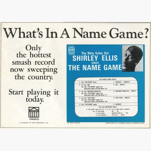 Shirley Ellis advert