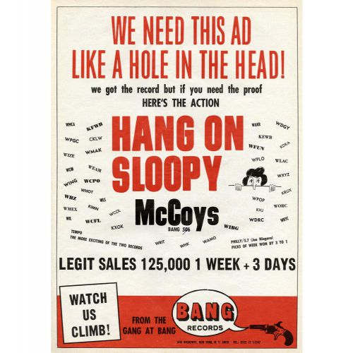 The McCoys 'Hang On Sloopy' advert