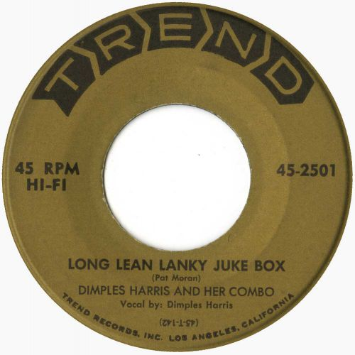 Dimples Harris & Her Combo 'Long Lean Lanky Juke Box' courtesy of Gavin Stearn