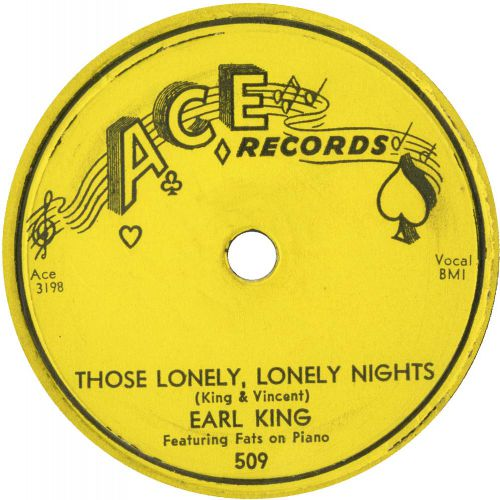 Earl King featuring Fats on piano 'Those Lonely, Lonely Nights' courtesy of Tony Rounce