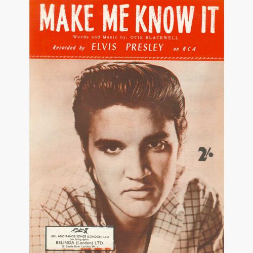 Elvis Presley 'Make Me Know It' song sheet