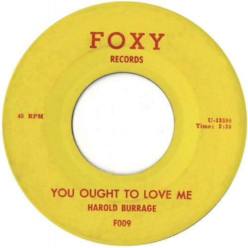 You Ought TO Love Me by Harold Burrage