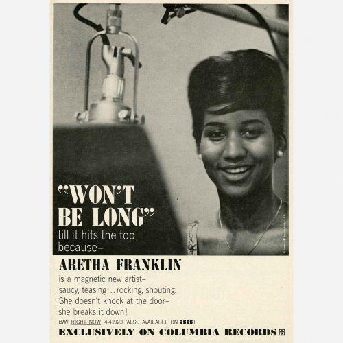 Aretha Franklin advert