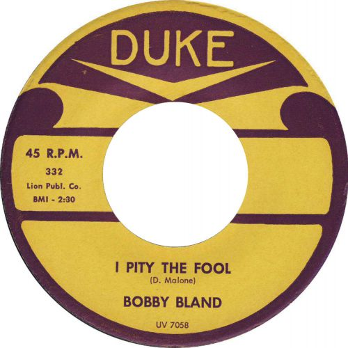 Bobby Bland 'I Pity The Fool'