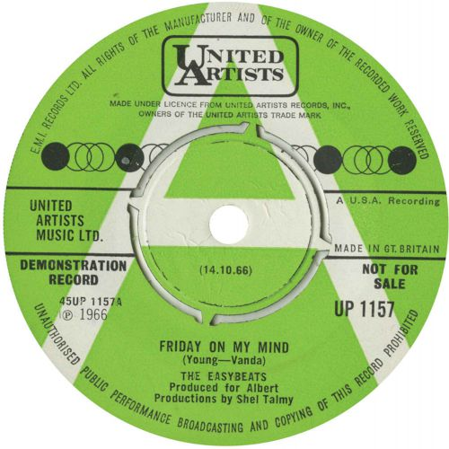 The Easybeats 'Friday On My Mind'