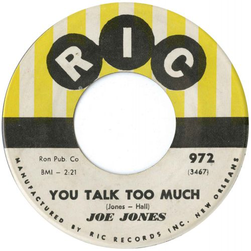 Joe Jones 'You Talk Too Much'