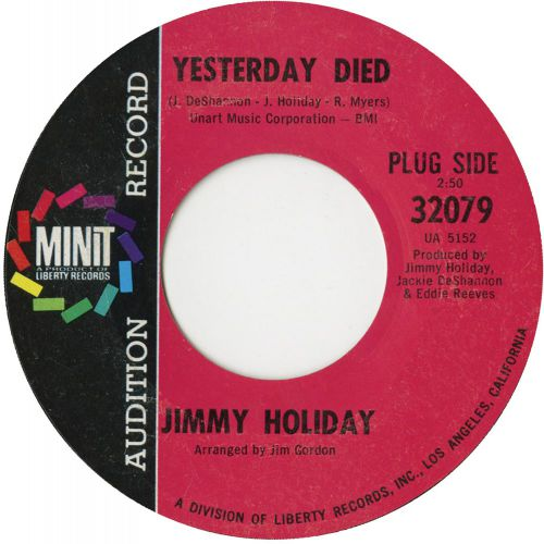 Jimmy Holiday 'Yesterday Died'