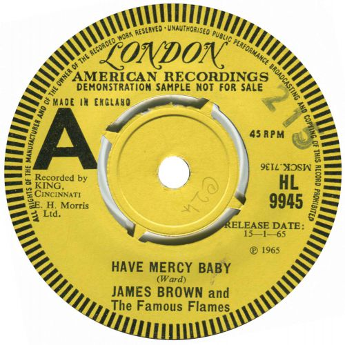 James Brown & The Famous Flames 'Have Mercy Baby'