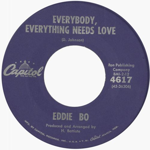 Eddie Bo 'Everybody, Everything Needs Love'