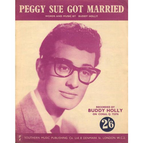 Buddy Holly with The Fireballs 'Peggy Sue Got Married' songsheet
