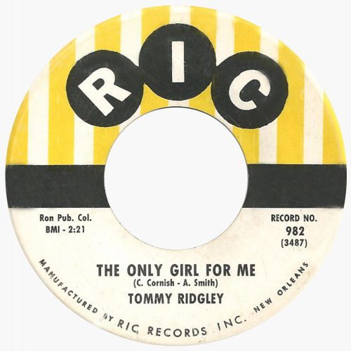 Tommy Ridgley 'The Only Girl For Me'