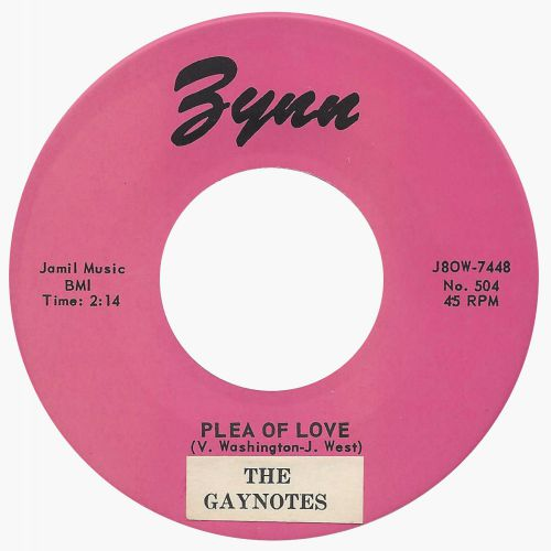 The Gaynotes 'Plea Of Love'