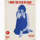 Billie Davis 'I Want You To Be My Baby' songsheet