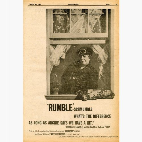 Rumble advert
