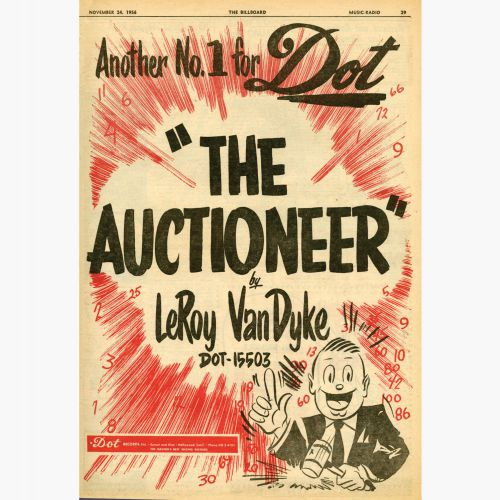 'The Auctioneer' advert