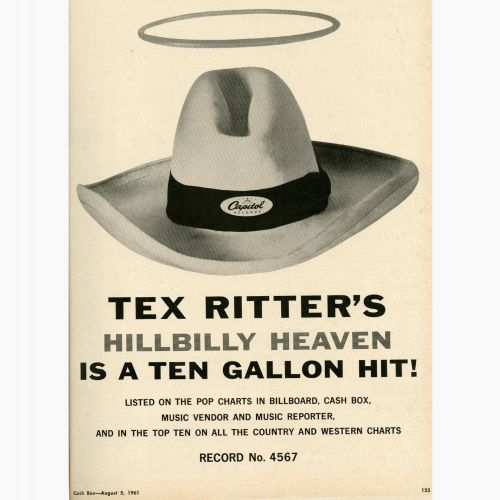 Tex Ritter advert