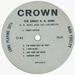 The Great B.B. King LP side 1
