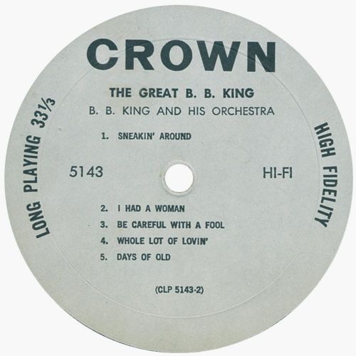 The Great B.B. King LP side 2