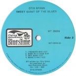 Otis Spann 'Sweet Giant Of The Blues' label side 2