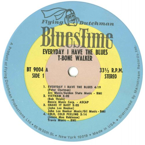 Every Day I Have The Blues LP label 1
