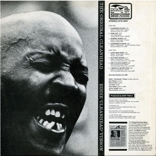 The Original Cleanhead LP back