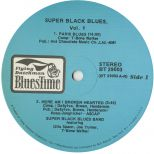 Super Black Blues LP label side 2