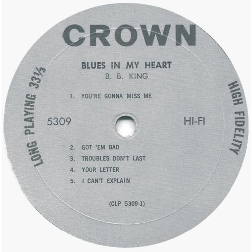 Blues In My Heart LP side 1