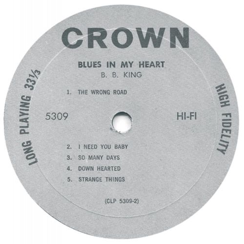 Blues In My Heart LP side 2