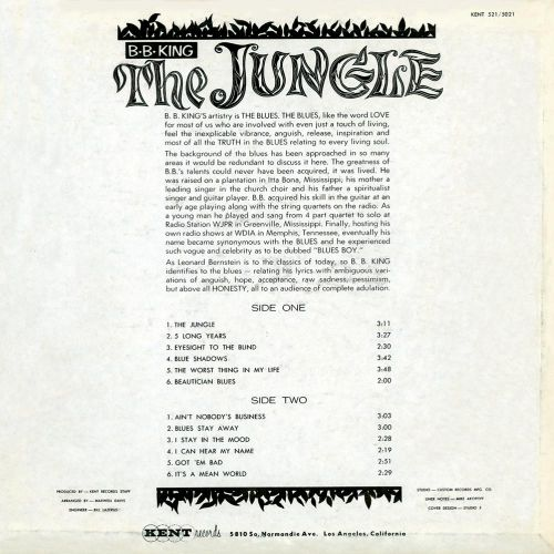 The Jungle LP cover back