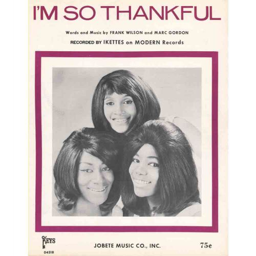 The Ikettes 'I'm So Thankful' courtesy of the Rudy Calvo Collection