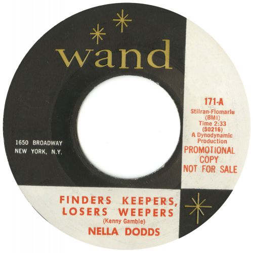 Nella Dodds 'Finders Keepers, Losers Weepers' courtesy of Peter Gibbon