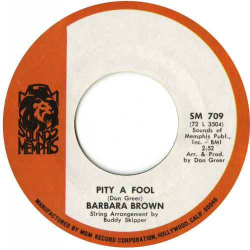 Barbara Brown 'Pity A Fool' courtesy of Dean Rudland