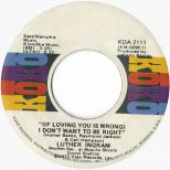 Luther Ingram '(If Loving You Is Wrong) I Don't Want To Be Right' courtesy of Tony Rounce