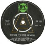 Jackie Lee & Dolores Hall 'Whether It's Right Or Wrong' courtesy of Ady Croasdell