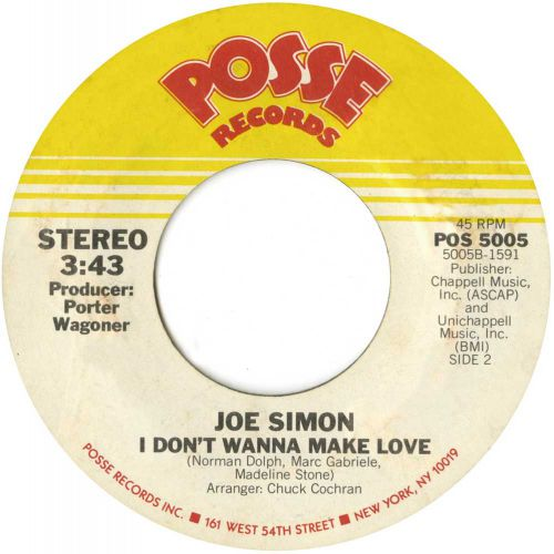Joe Simon 'I Don't Wanna Make Love' courtesy of Ady Croasdell