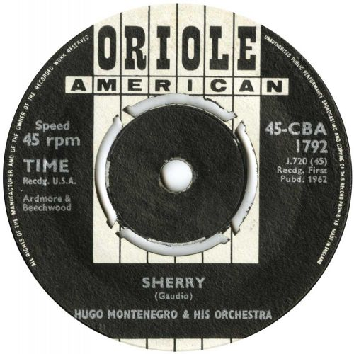 Hugo Montenegro & His Orchestra 'Sherry' courtesy of Tony Rounce