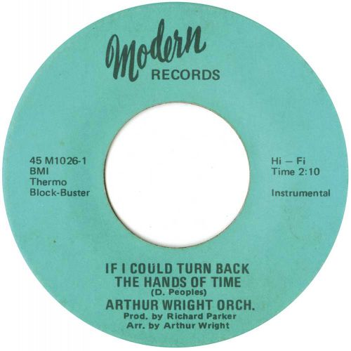 Arthur Wright & His Orchestra 'If I Could Turn Back The Hands Of Time' courtesy of Tony Rounce
