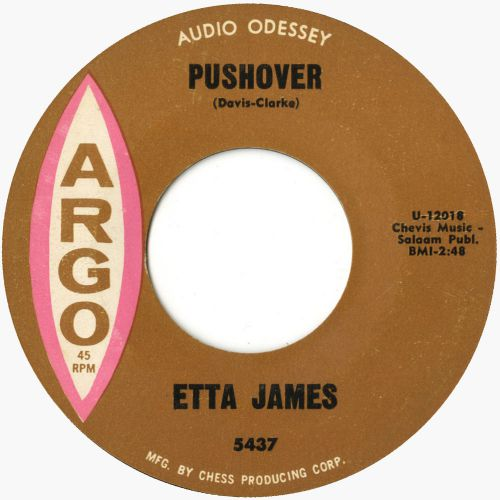 Etta James 'Pushover' courtesy Mick Patrick