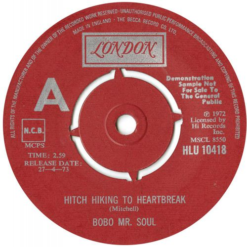 Bobo Mr Soul 'Hitch Hiking To Heartbreak Road'