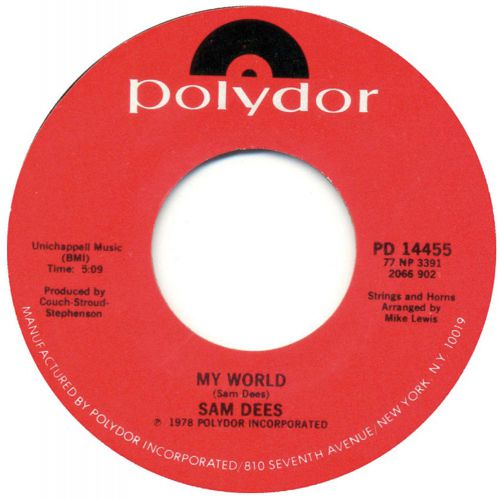 Sam Dees 'My World'